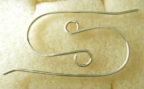 Plain Ear Wire - 1 Pair - 11x27mm - Sterling Silver<br>EI4583