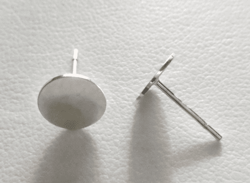 Post w/ 6mm Pad - 1 Pair - Sterling Silver<BR>SS-520-6