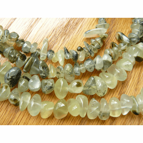 Prehnite Bead Tumbled Light Green Silicate 2 sizes To Choose