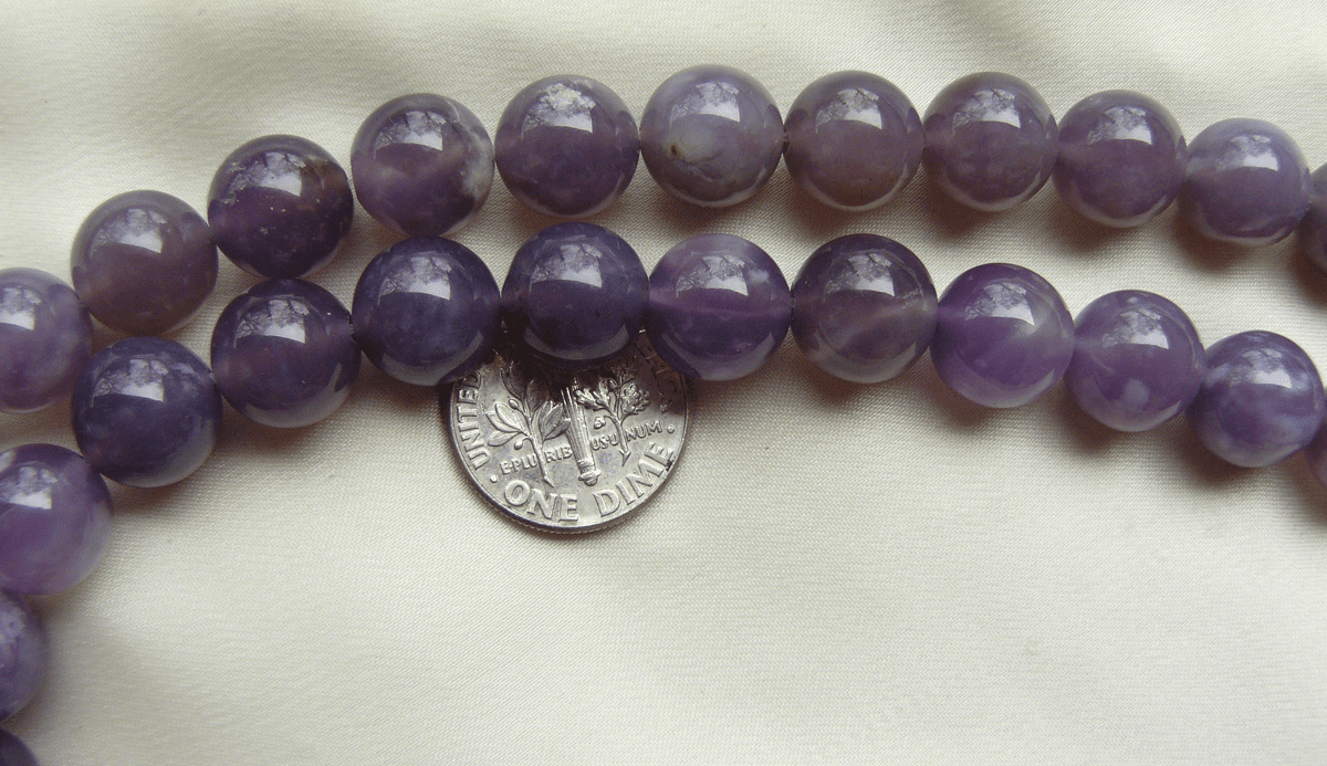 Purple Chalcedony Beads- 10mm 16 inch strand vivid purple