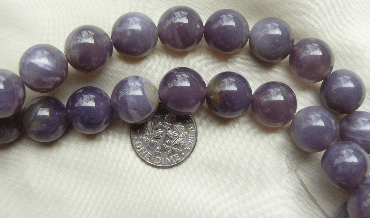 Purple Chalcedony Beads- 12mm 16 inch Strands