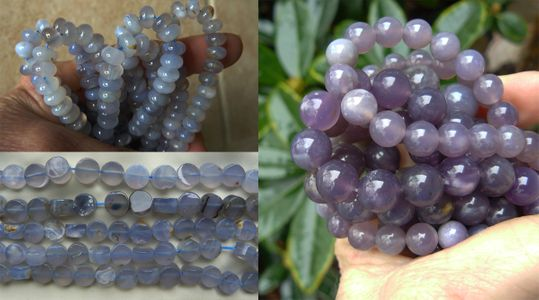 Purple Chalcedony - Round, Rondelle, Chips and More