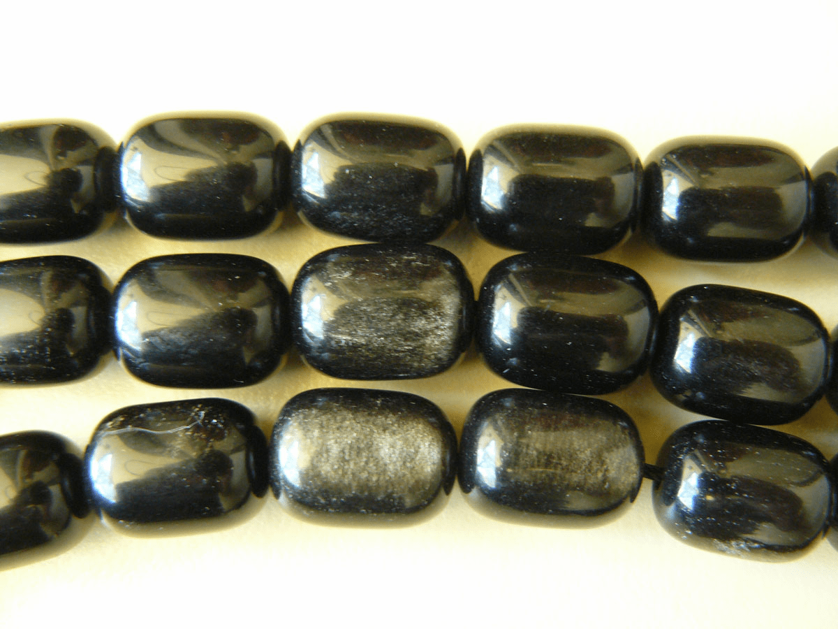 Rainbow Obsidian barrel beads 12x16mm