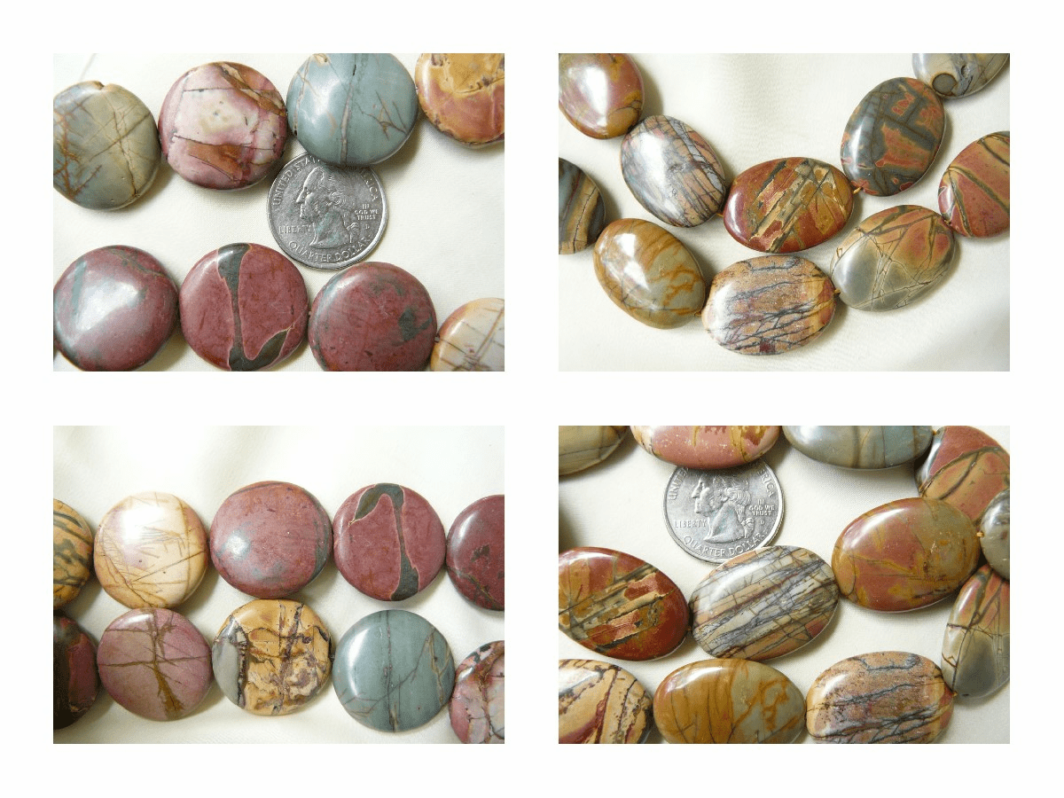 Red Creek Jasper Beads Natures fine Art