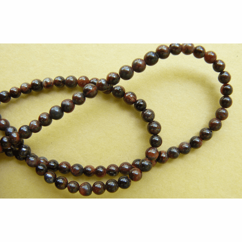 """Red Tiger Eye Beads 4mm rounds 16"""" strands"""