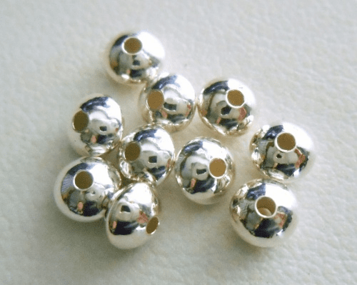 Rondelles - 4.5x3mm - 10 Pieces - Sterling Silver<br>5020134L