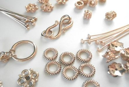 Rose Gold  Beads & Findings over copper core