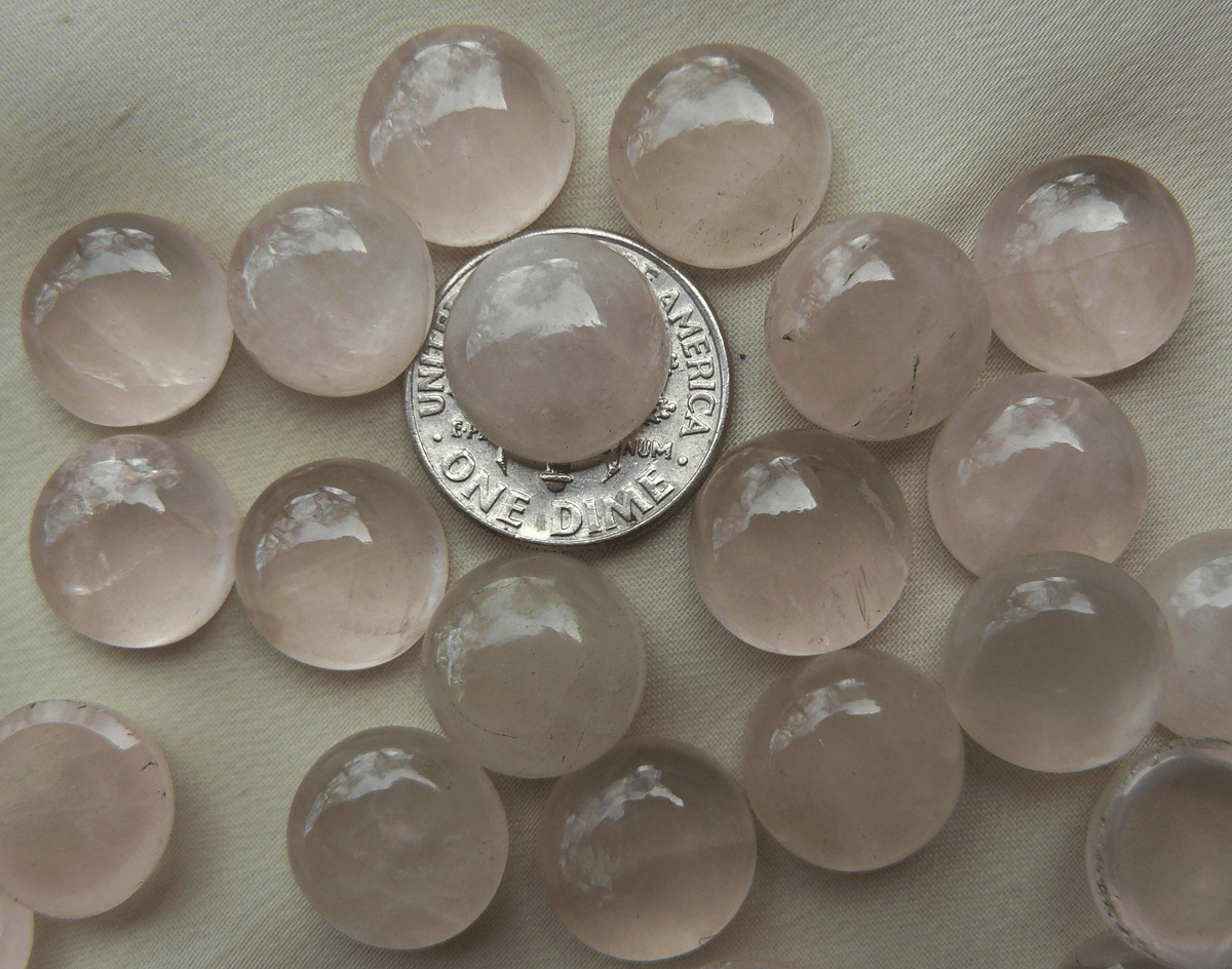 Rose Quartz 12mm Round Cabochons