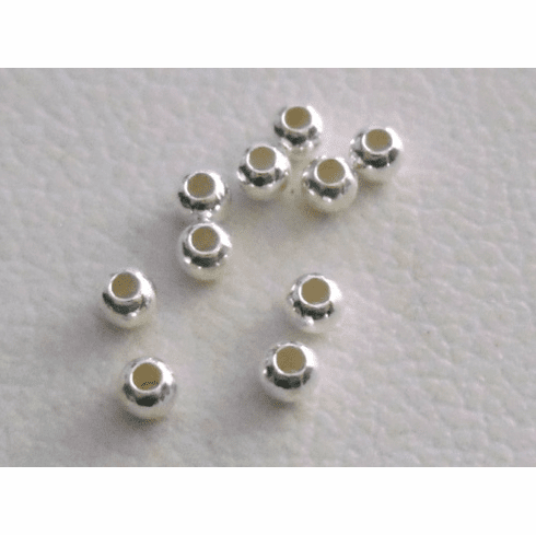 Round Bead - 2mm - 25Pieces - Sterling Silver SS30002MM