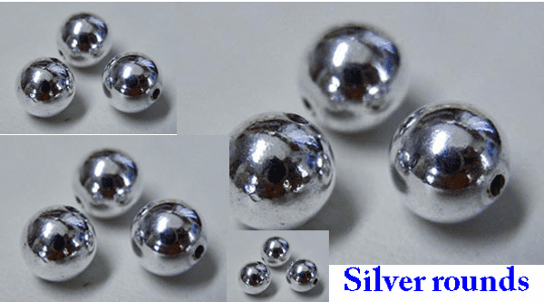 Round Beads - .999 Silver Over Copper
