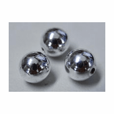 Round beads 999 Silver over copper core 2MM 600 beads