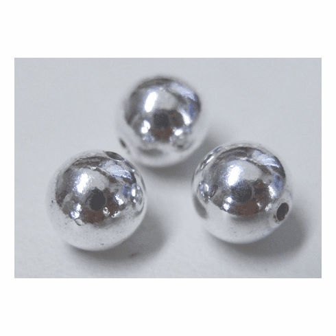 Round beads 999 Silver over copper core 3MM 200 beads