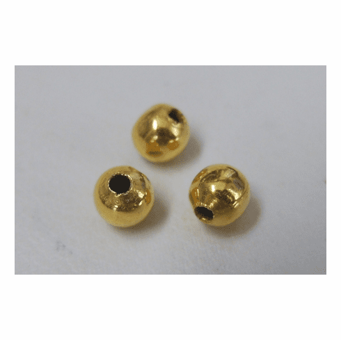 Round Smooth Beads - 24Kt. Gold Over Copper -