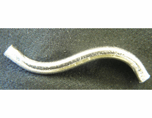 S-Curve Tube - 30mm - 15 Pieces - .999 Silver Over Copper<br> SCBK113