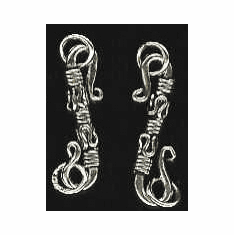 S-Hook - 22x9mm - 10 Clasps - Sterling Silver<br>H-20