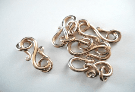 """""""S"""" Hook Clasp - 5 Clasps - 19mm - Rose Gold Over Copper<br>SIT24"""