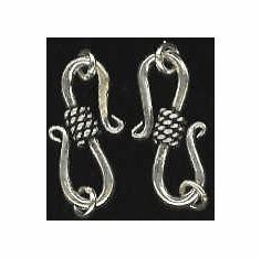 S-Hooks - 18x8mm - 10 Clasps - Sterling Silver<br>H-19