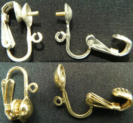 Screw Backs and Clip Ons - Sterling Silver -