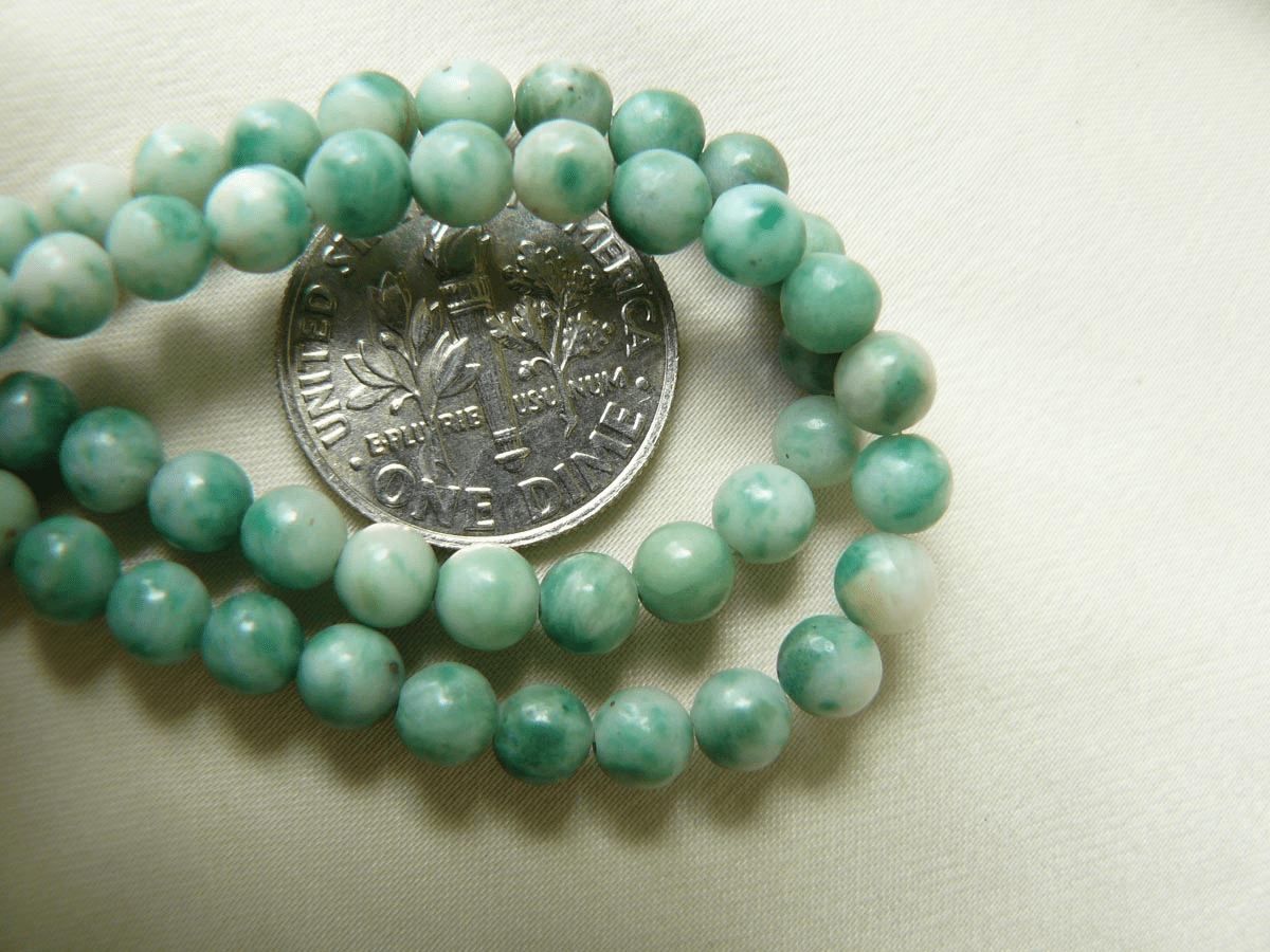 "Sesame Jade Beads 6mm 16"" Strands"