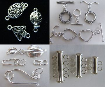 Clasps Toggles, Multi-Strand Slide Clasps, Box Clasps, Hook & Eye, S-Hook, Magnetic, Lobster