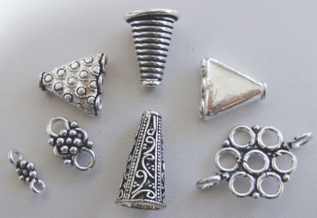 Silver Cones, Reducers, Connectors and Caps - .999 Silver Over Copper
