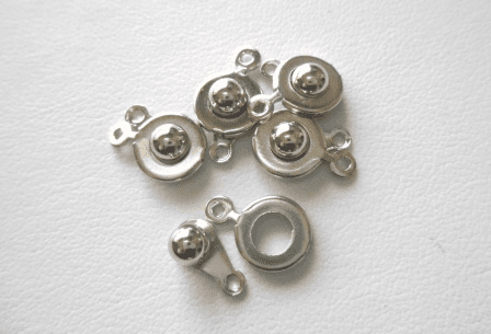 Silver Finish Snap Clasp