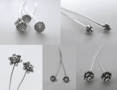 Head Pins and Eye Pins - .999 Silver Over Copper