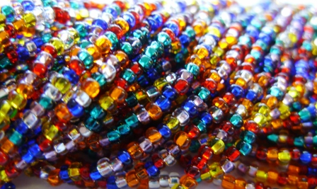 Silver Lined All Mixed Up 10/0 Seed Bead