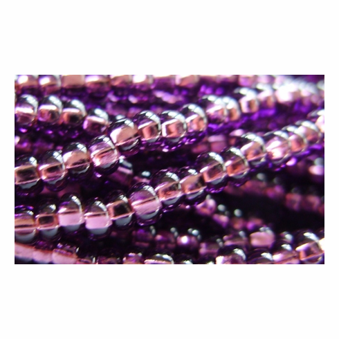 Silver Lined Amethyst 8/0 Seed Bead