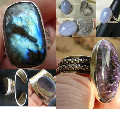 Artisan Creations and Silver smithed Jewelry with Gems