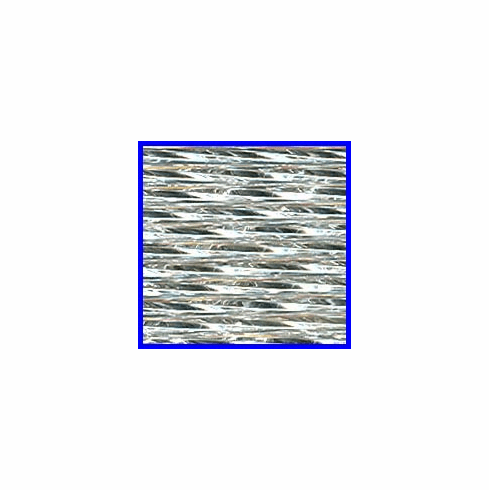 Silverlined Crystal 30mm Twisted Bugle Bead