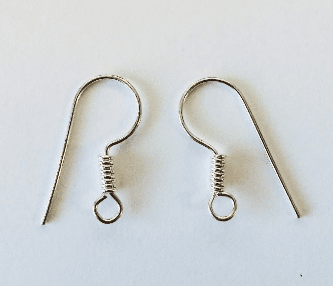 Simple ear wire with coil SCBK313B