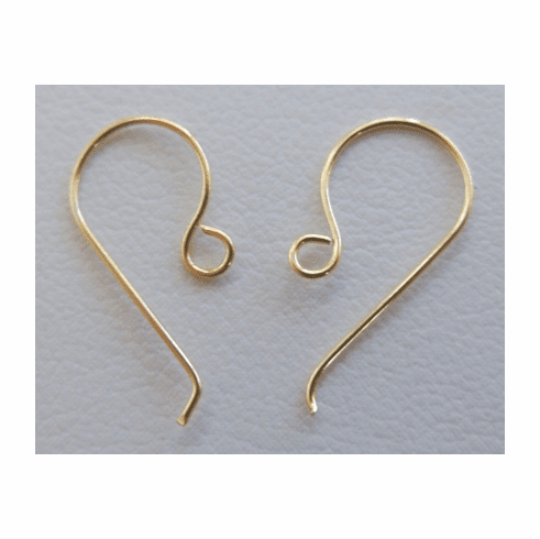 Simple Fishhooks 24KT Gold Over Copper gcbk306