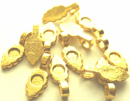 Simple Glue-On Bail - 8x18mm -12 Pieces - 24KT Gold Over Copper
