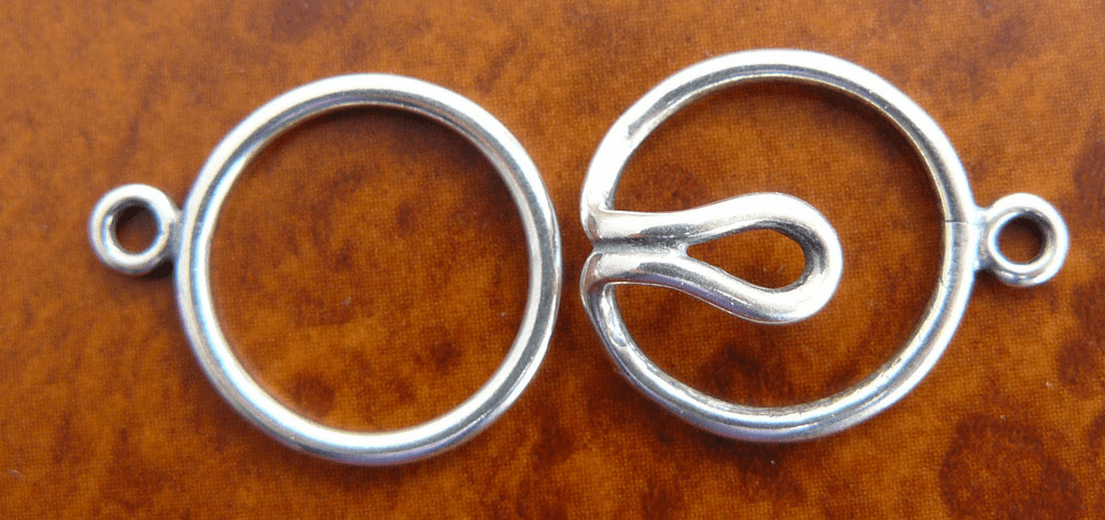 Single Strand One Ring Clasp - 16mm - 5 Clasps - Sterling Silver<br>SS/6022/1-10
