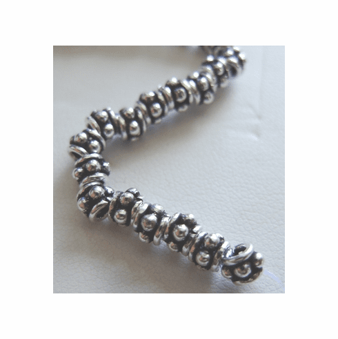 Small Spacer - 4mm - 55 Beads - .999 Silver Over Copper<br>SCBK-16