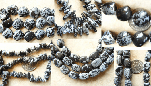 Snowflake Obsidian beads Round, Brick, and many more shapes