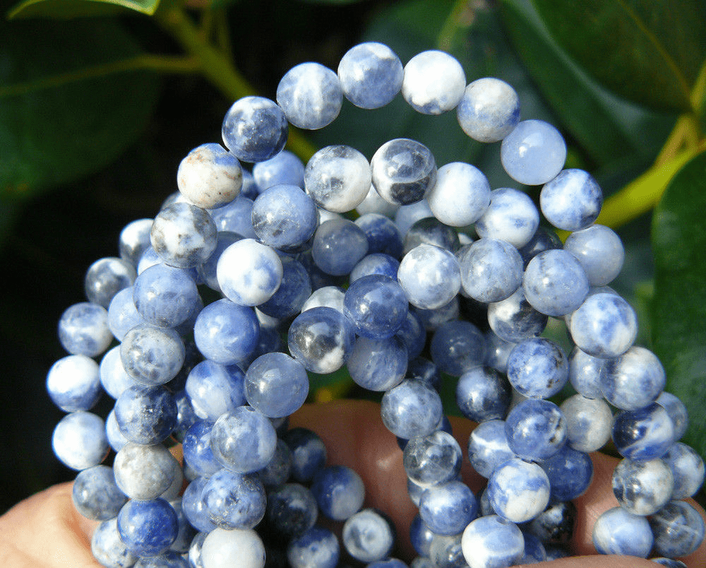 """Sodalite Beads 6mm Rounds 16"""" Strand"""