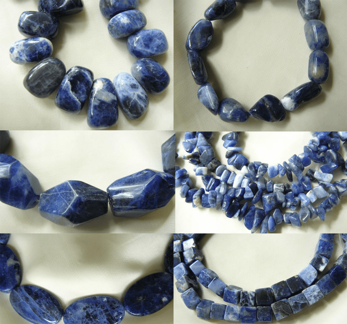Sodalite Beads- Faceted, Top Drilled, Round and More
