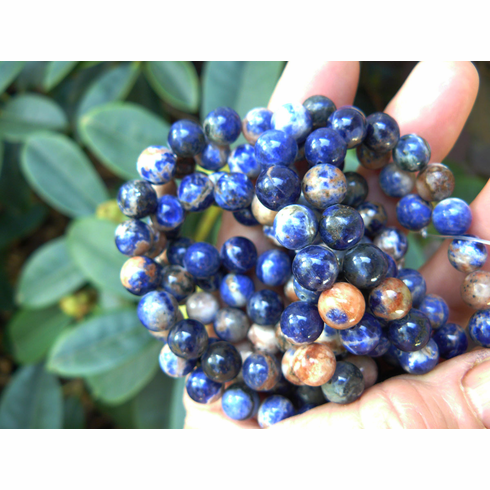 """Sodalite Colorful pastel Fancy rounds 8mm 16"""" strands"""