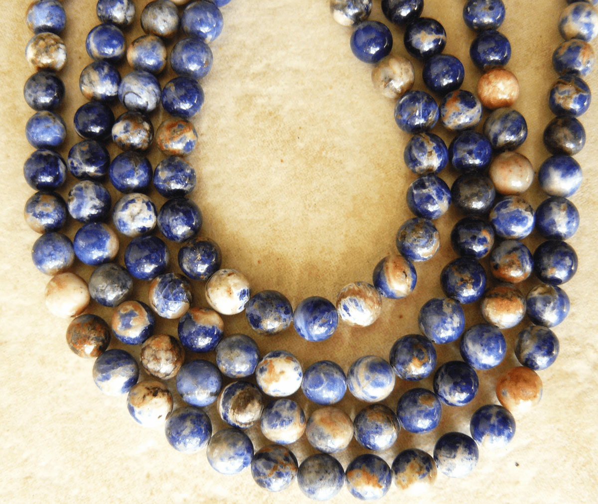 """Sodalite Fancy pastel 4mm beads colorful 16"""" strands"""