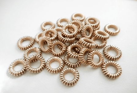 Spacer - 6mm - 34 Pieces - Rose Gold Over Copper<br>SIB110