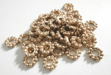 Spacer - 7mm - 50 Pieces - Rose Gold Over Copper<br>SIB09