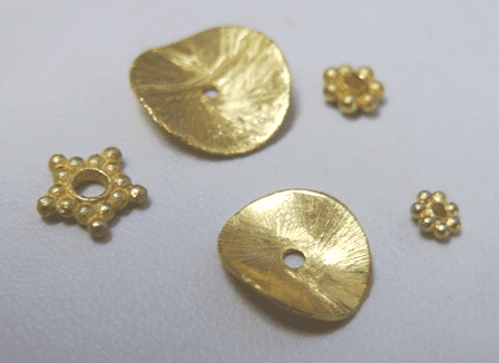Spacers - 24kt Gold Over Copper -
