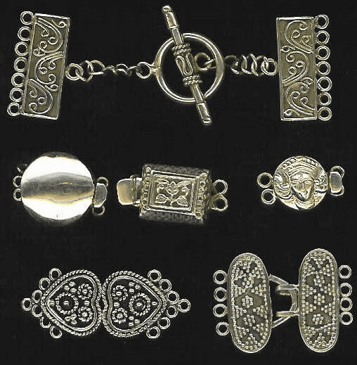 Specialty Multi Strand Clasps - Sterling Silver -