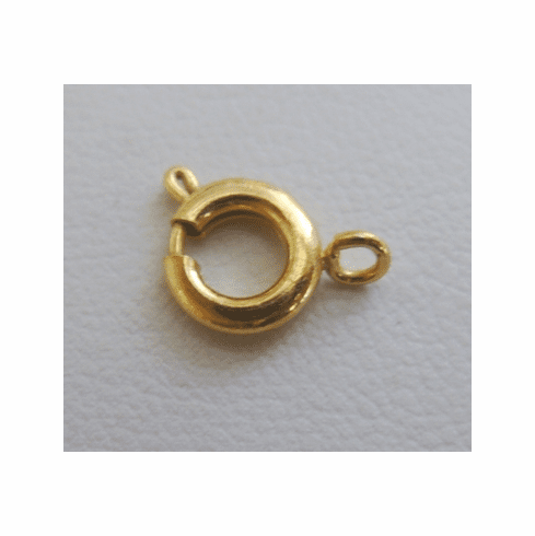 Spring Ring - 7mm - 45 Pieces - 24 Kt. Gold Over Copper