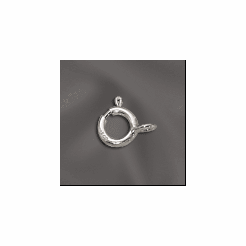 Spring rings Sterling Silver 6mm with closed ring 10 pieces