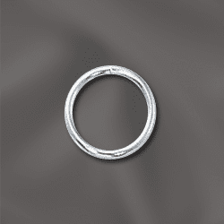 "Sterling Silver 8mm open Jump rings 25 pack NEW ""CLICK AND LOCK"""