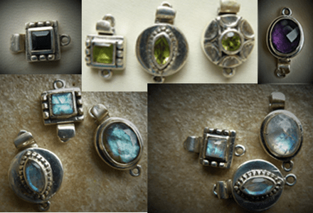Sterling Silver Gemstone Clasps