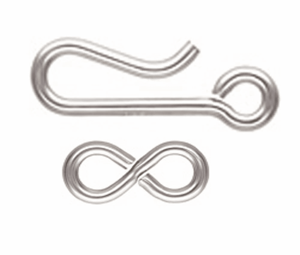 Sterling Silver Hook and Eye Clasps 5 Clasps